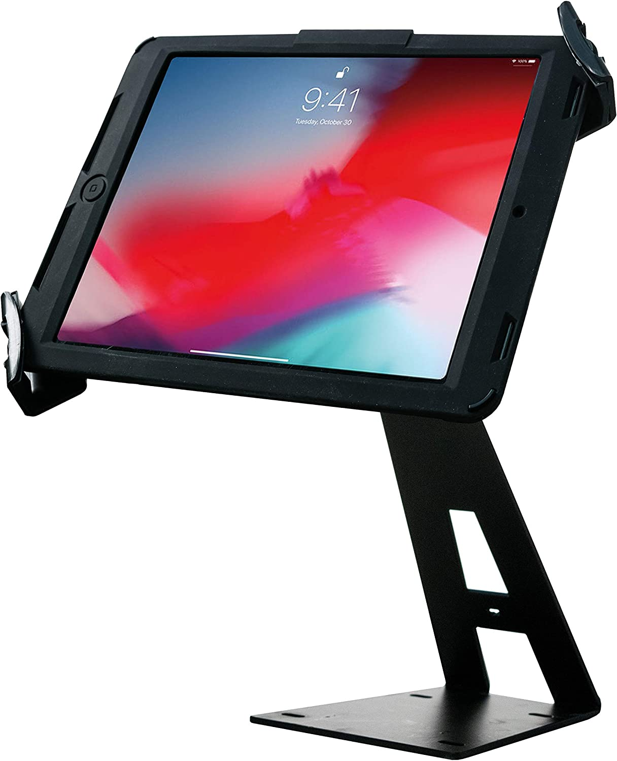 """CTA Digital: Angle-Adjustable Locking Desktop Stand for 7""""-14 Inch Tablets, Including iPad 10.2-Inch (7th Gen,), iPad Air 3, iPad Mini 5, 12.9-Inch iPad Pro, 11-Inch iPad Pro and More"""