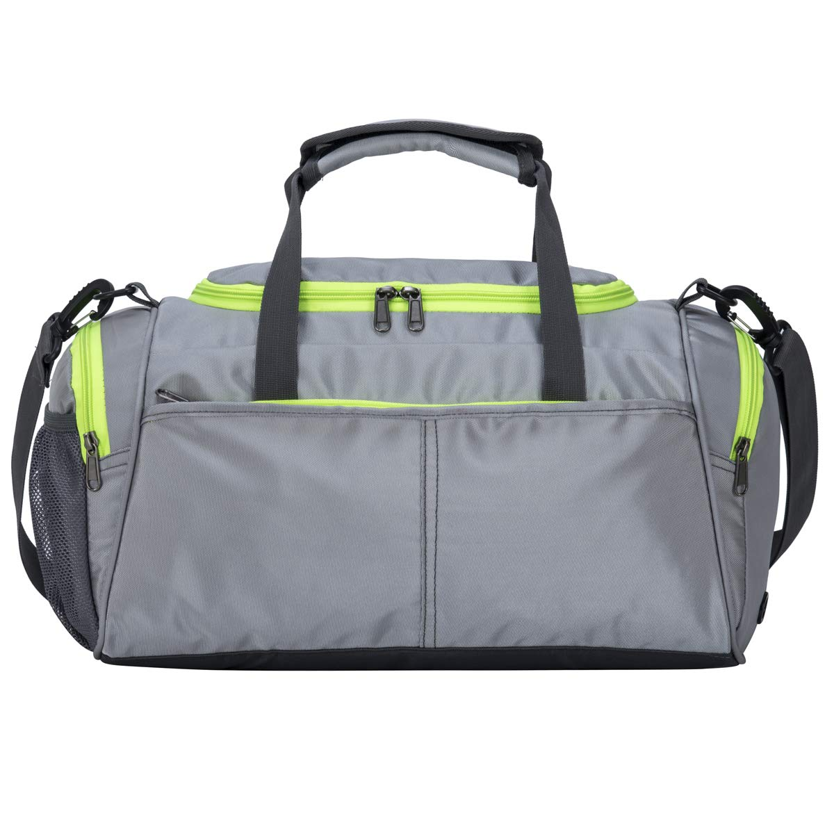 Grey Kuston Small Sports Gym Bag Duffel Bag Mini Travel Duffel with shoes Compartment for Men&Women