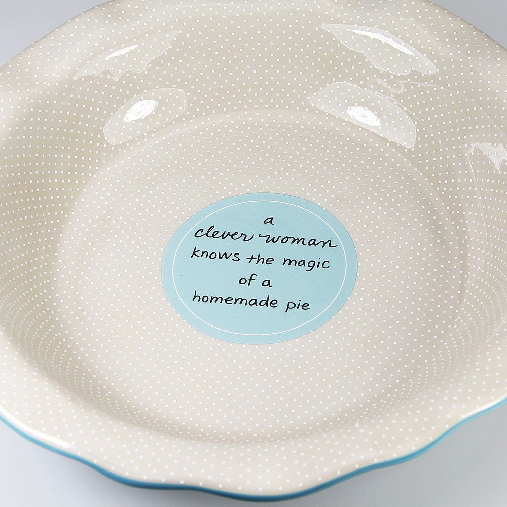 My Soul's Window 4938 Pie Plate with Saying, Blue, 9-Inch