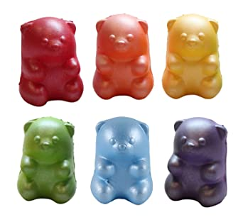 7876beb29 Amazon.com  6 Gummy Bear Squishy Slow Rise Animal - Sensory