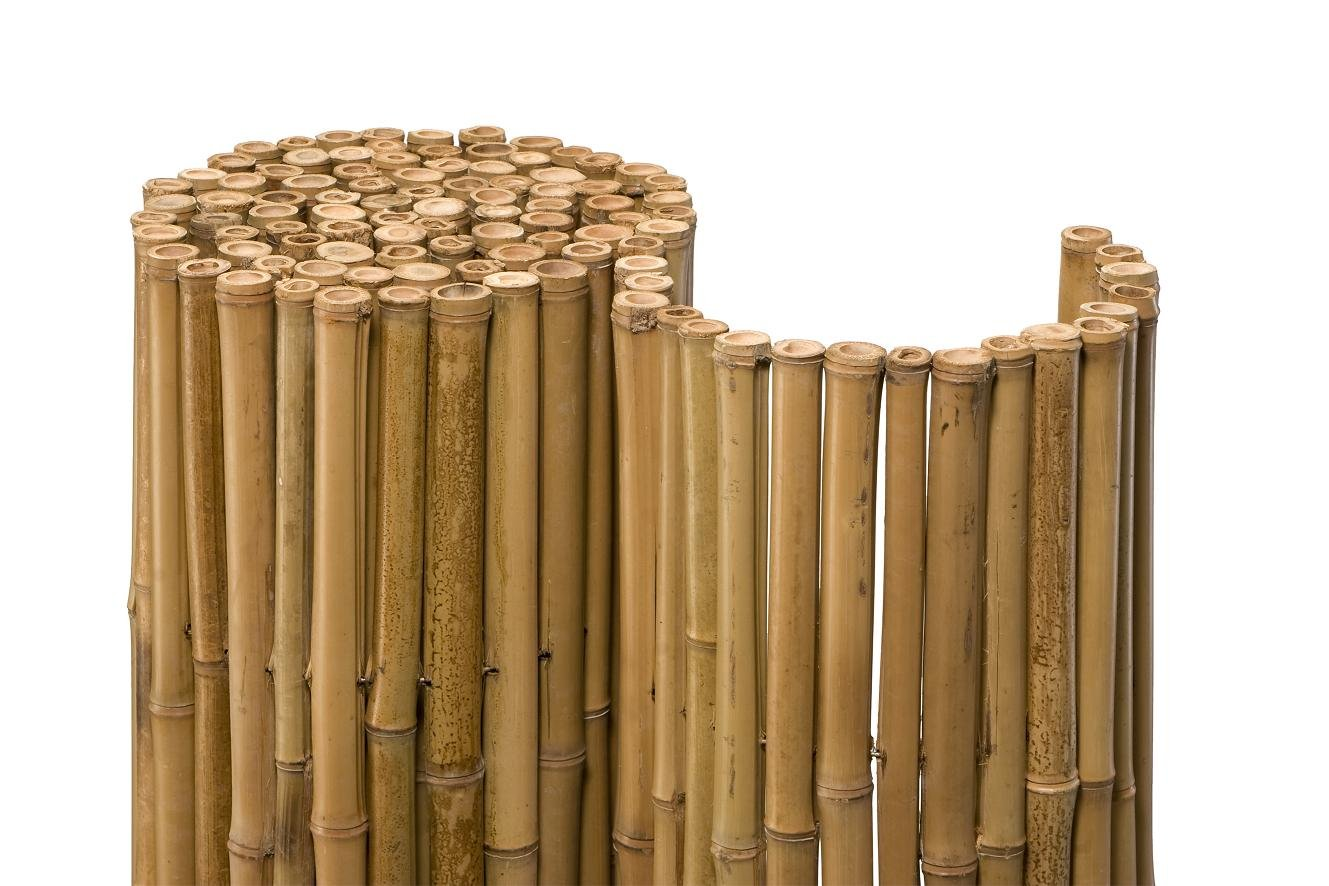 Noor Bambusmatte Deluxe 24 mm 100x250 cm Amazon Garten
