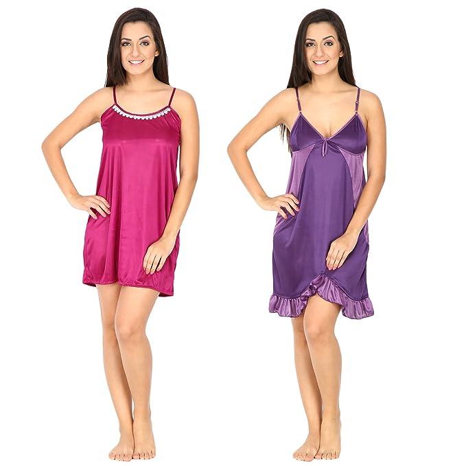 33ff050dfc0 Secret Wish Women s Satin Babydoll lingerie nightwear