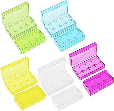 KEESIN Caja de Almacenamiento de la batería 18650 Caja Protectora de la batería Soporte de batería plástico enganchado para la batería 18650/18350 / CR123A / 16340 (2 células * 10 Piezas): Amazon.es: Electrónica