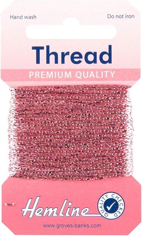 10m Pink Hemline Glitter Thread