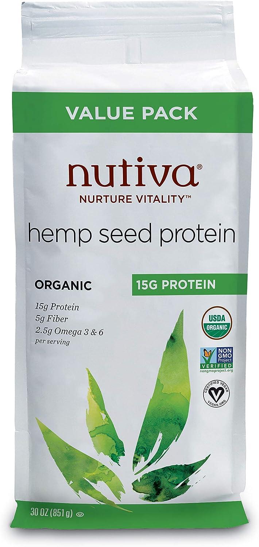 Super comida orgánica, proteína de cáñamo, 15 g, 30 oz (851 ...
