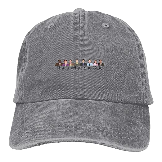 4e645fd8 XianNonG The Office Men's Black Adjustable Vintage Washed Denim Baseball  Cap Dad Hat Trucker Cap