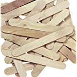 Jumbo Natural Craft Sticks,100 pieces per pack (100 Piece)