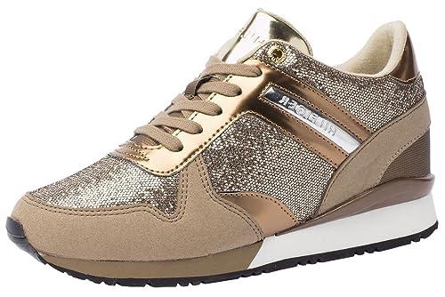 1a8fd9465d4 Tommy Hilfiger Zapatillas Para Deportes de Exterior Para Mujer Beige Topo  37 Beige Size  36  Amazon.es  Zapatos y complementos