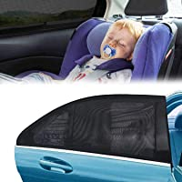 Freewalk Car Window Shades for Baby Block UV Rays, Protect Your Babies, Kids and Pet from UV, AN Car Rear Side Window…
