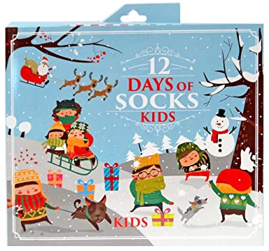 surprise mens womens and kids novelty holiday 12 days of christmas socks kidsboys