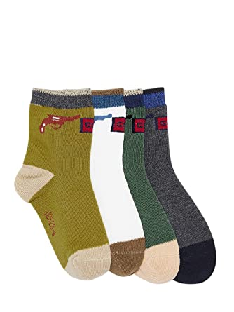 Camey Kids Pack Of 4 Cotton Socks  Amazon.in  Clothing   Accessories 758782a4c98