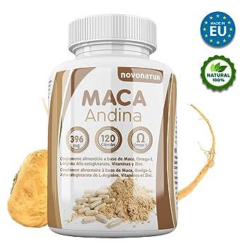 Maca andina negra con Omega 3, L-Arginina Alfa-cetoglutarato, Vitaminas y