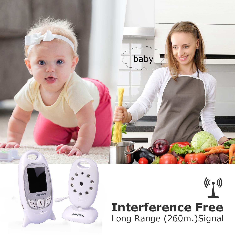 mit Gegensprechfunktion Digital mit Temperatursensor Schlaflieder VOX Funktion f/ür Baby /Überwachung Wireless Baby Monitor,Babyphone mit Kamera,Video Babyphone