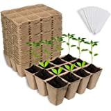 Litviz Seed Starter Peat Pots 288 Cells, Premium Biodegradable and Organic Germination Seedling Trays Kit for Indoor Outdoor