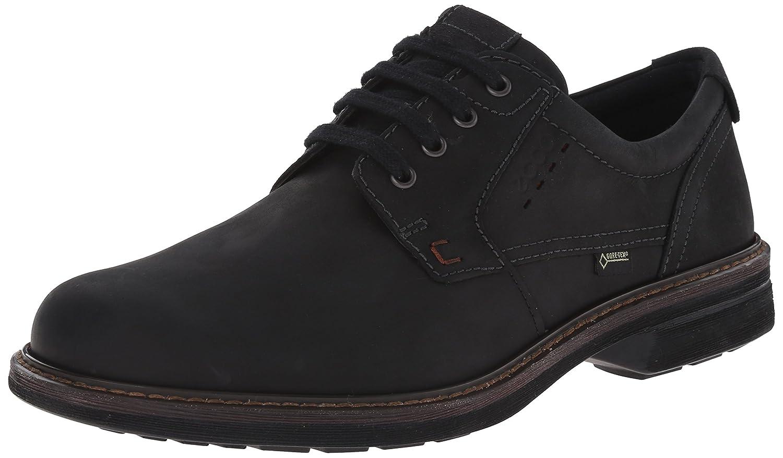 ECCO JOKE Mens US 10.5, EU 44 Lace Up Shoe, Black Leather
