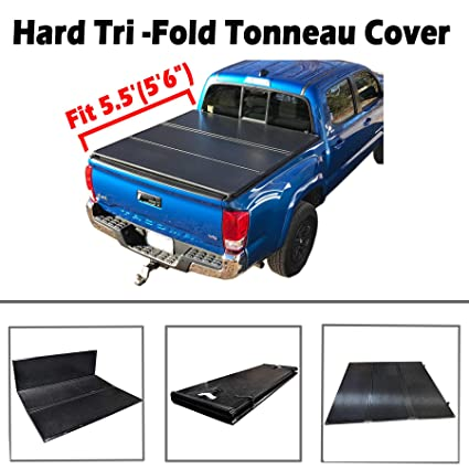 Vioji New   Hard Tri Fold Tonneau Cover Truck Bed For