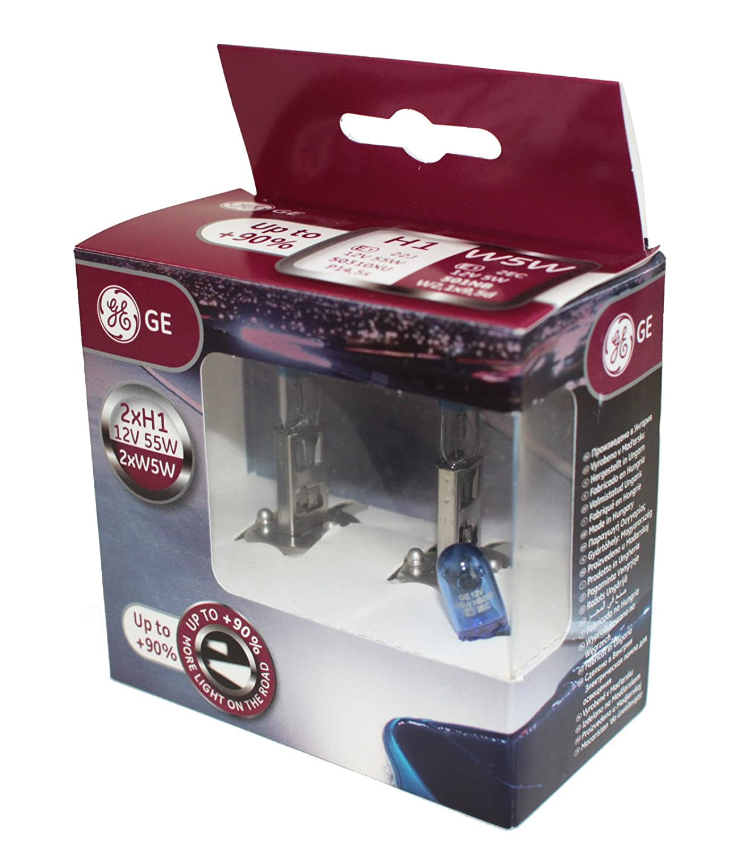 General Electric H1 12V 55W P14,5s MegaLight Ultra W5W Blue Doppelbox 90/%