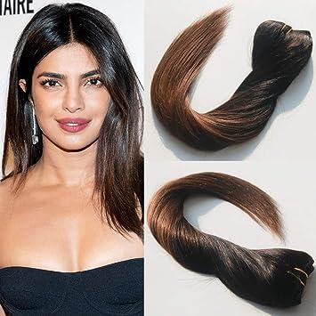 14 61 Cm Balayage Clip En Extensions De Cheveux Brun Clair