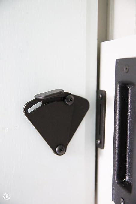 HippoCo Rolling Sliding Wood Barn Door Latch Lock Hardware | Sliding Pocket  Door Latch Lock Privacy ...