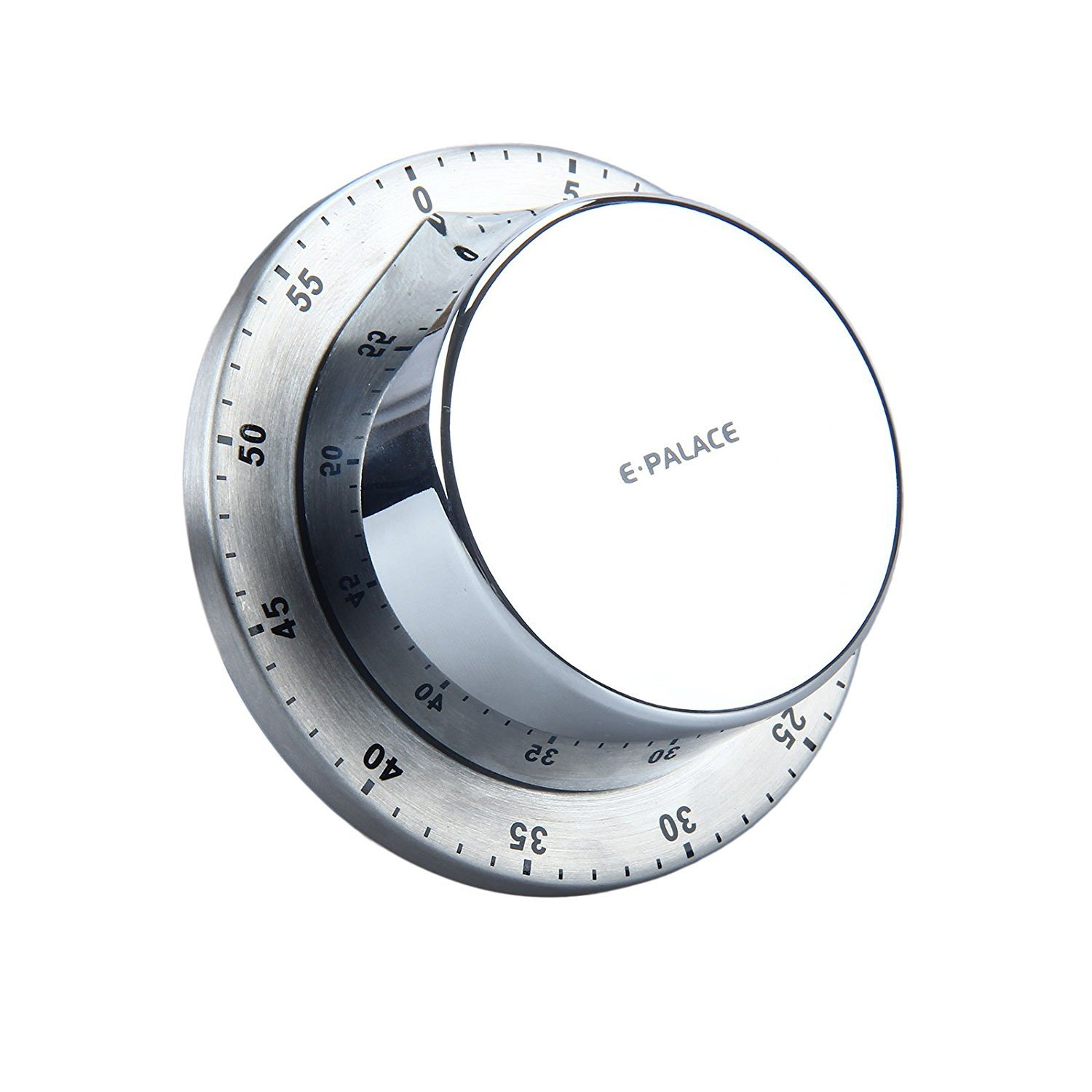 E-Palace Kitchen Timer. Wind up Cooking Timer with Magnetic Base. (Silver) Founder Technology Group CO. LTD
