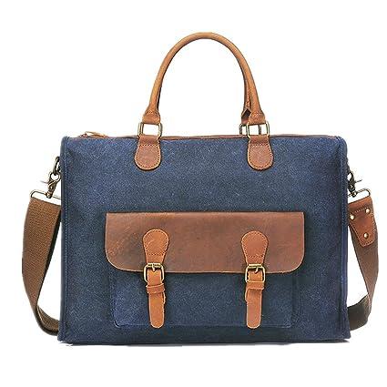 ef668d7b65 Xiaoqin Mens PU Leather Briefcase Men s Briefcase Handbag Multi-purpose Shoulder  Messenger Bag Retro Bag