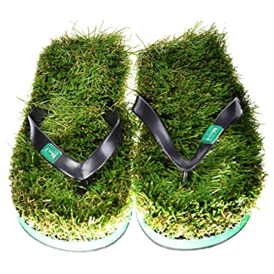 bd6e9e18a848 Kusa Mens Funky Grass Flip Flops Stag Do Summer Sandals Beach shoes Green  KusaMens-L