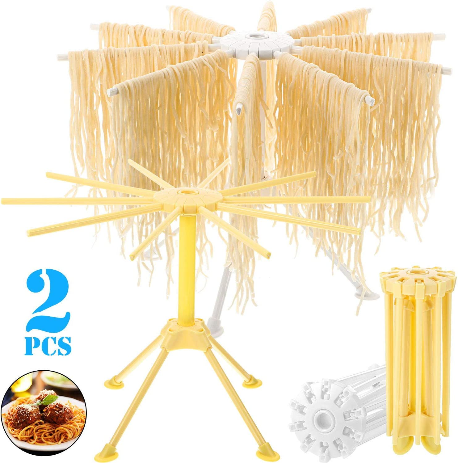 6Arms Noodle Pasta Drying Rack Spaghetti Holder Stand Dryer Hanging Rack Kitchen