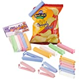 Primeway Air Seal Small + Big Locking Clips for Food Packets, 20 Pcs, Assorted