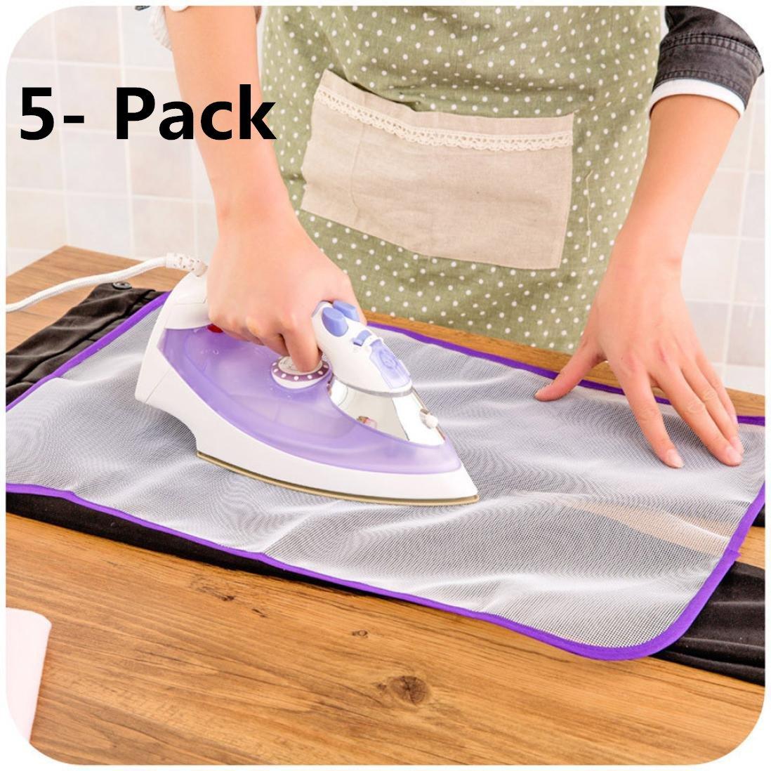 5-Pack Protective Ironing Scorch-Saving Mesh Pressing Pad Mesh Ironing Cloth Coerni