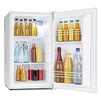 Klarstein MKS-6 Mini-Kühlschrank • Minibar • Zimmerkühlschrank • freistehend • 70 Liter • 3 Temperaturstufen 5 bis 15 °C • 33 db • 83 Watt • Innenbeleuchtung • Regaleinschübe • Seitenfächer • weiß