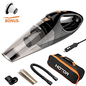 Upgraded Car Vacuum Cleaner With LED Light HOTOR DC12 Volt Wet