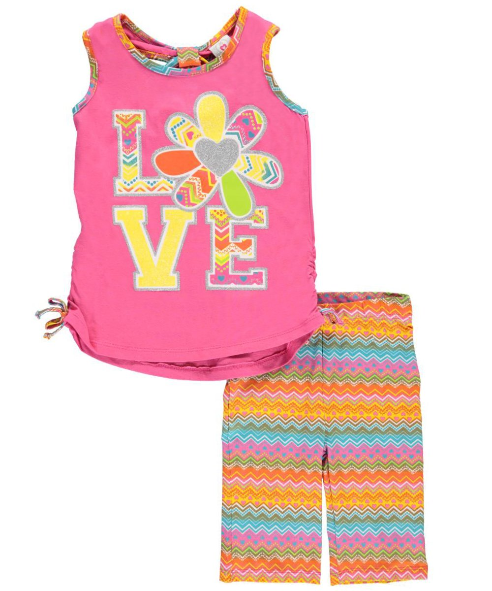 Real Love Big Girls' Love Flower 2-Piece Outfit 10-12