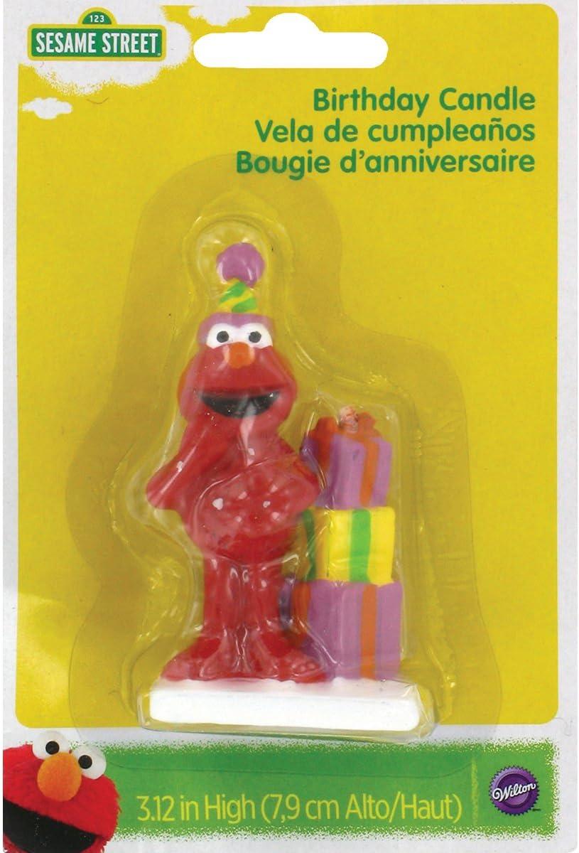 Amazon.com: Wilton 2811-3464 Elmo Birthday Candle ...