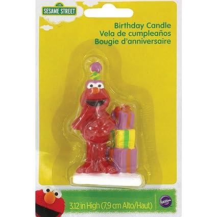 Amazon Wilton 2811 3464 Elmo Birthday Candle Decorative Cake Toppers Kitchen Dining