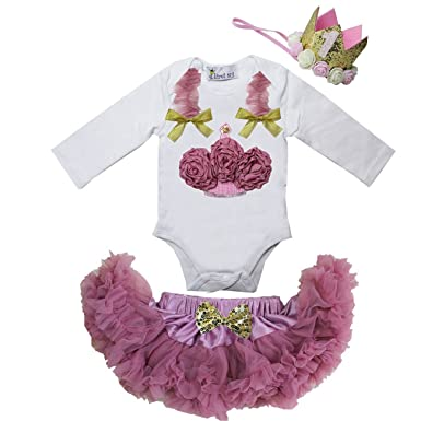 c1434bc7a2 Image Unavailable. Image not available for. Colour: Kirei Sui Baby  Pettiskirt & Bodysuit S Dusty Pink
