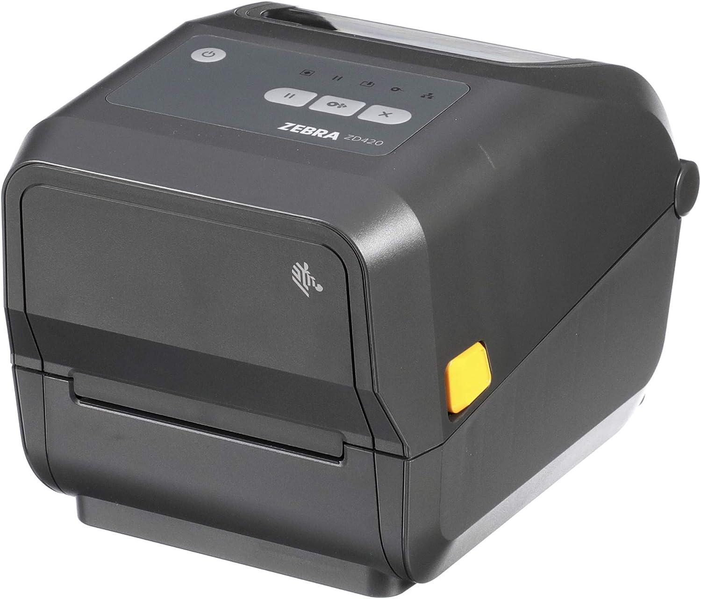 Zebra ZD420t Thermal Transfer Desktop Printer 203 dpi Print Width 4 in WiFi Bluetooth USB ZD42042-T01W01EZ