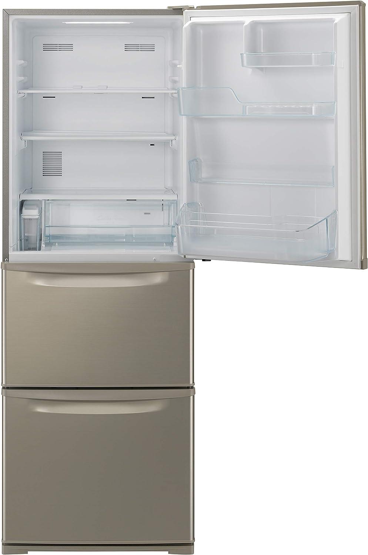 パナソニック 冷蔵庫 3ドア 335L 右開き シルキーゴールド