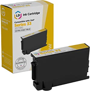 LD Compatible Ink Cartridge Replacement for Dell 331-7380 GRW63 Extra High Yield (Yellow)