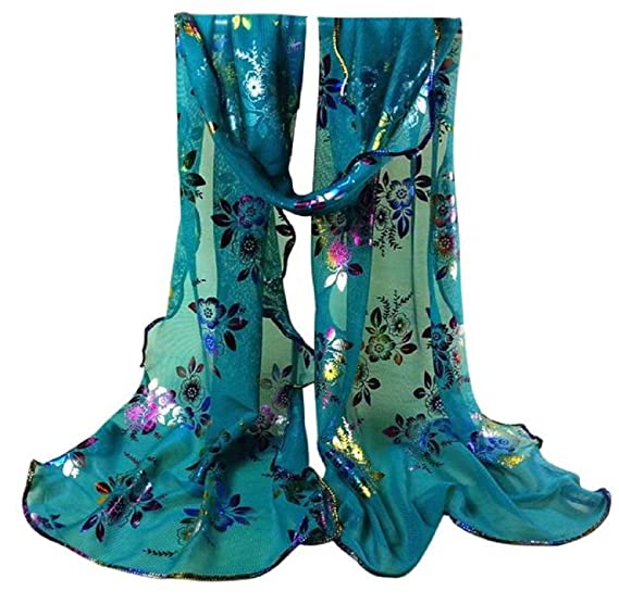 iHPH7 Lightweight Scarves, Women Vintage Colorful Flower Lace Veil Wrap Shawl