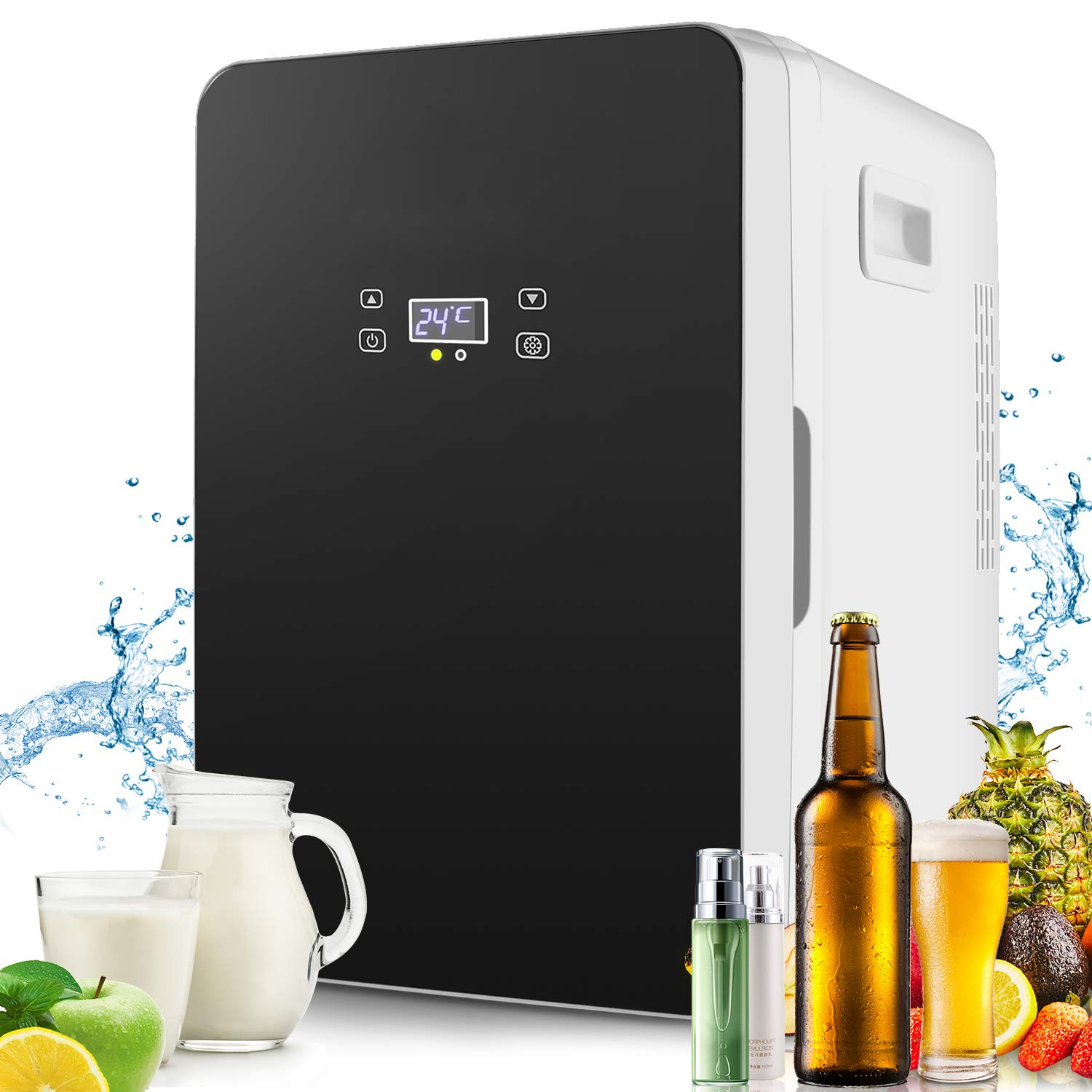 Compact Fridge Electric Cooler and Warmer(20 Liter), AC/DC Portable Refrigerator, Energy Star Single Door freezer(With Digital Display)