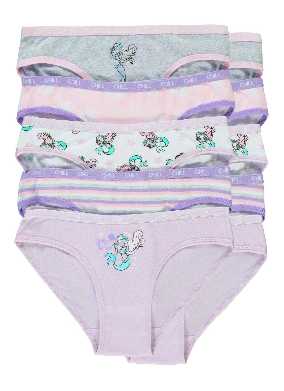 Bikinis 10-Pack Size XL 16 Mermaid Girls Underwear