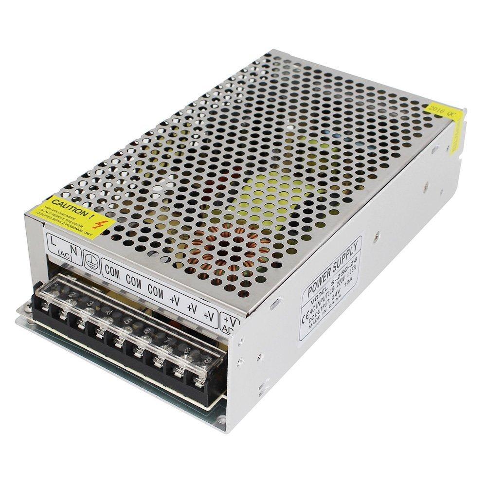 installations antivol cam/éras syst/èmes de surveillance OYY AC-DC 24V 10A Bloc dalimentation pour interrupteur continu 110-220 V Sortie pour appareils LED