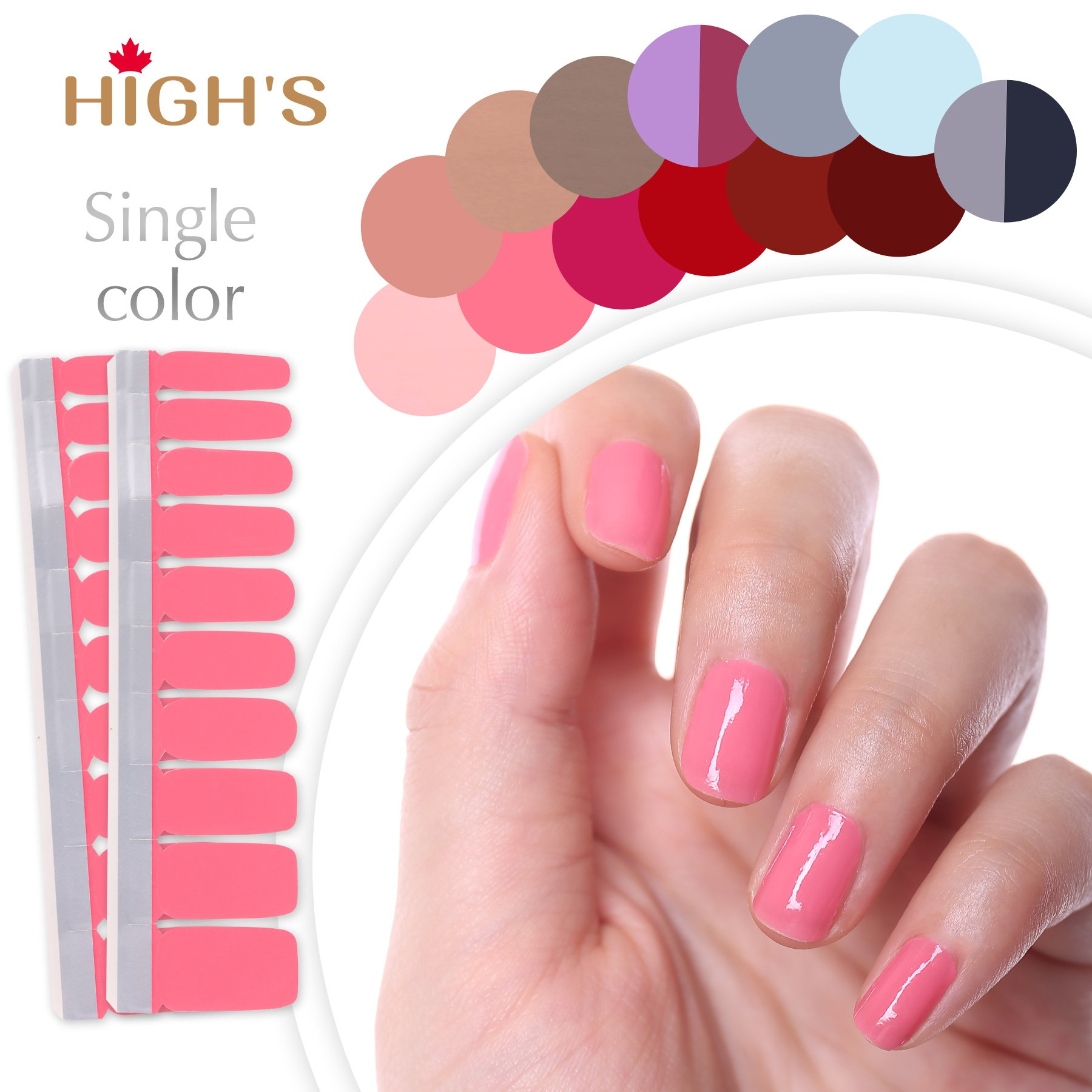 Amazon.com: HIGH\'S Single Color Series Classic Collection Manicure ...