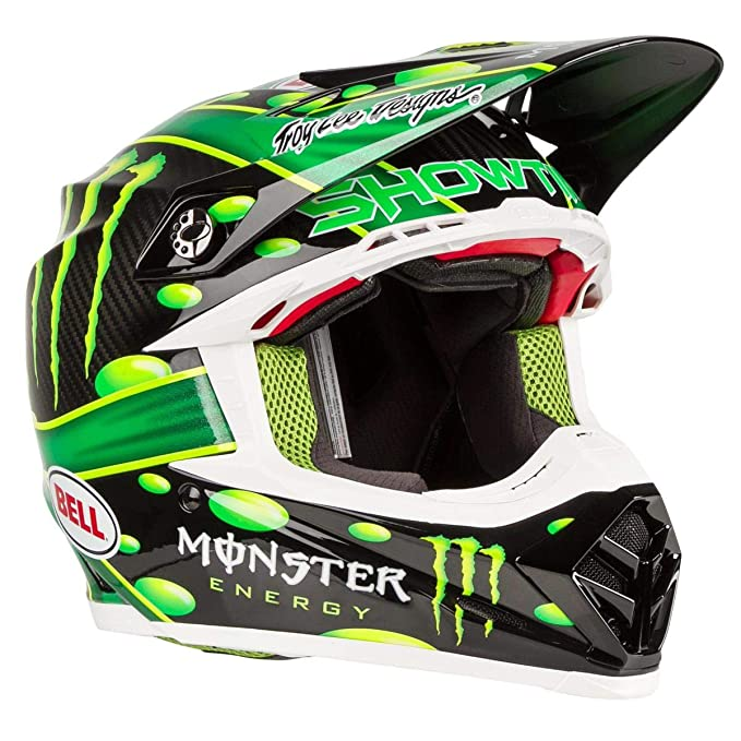 Amazon.es: Bell 7093191 Moto-9 Flex Mcgrath Monster Casco, Verde/Negro, Talla L