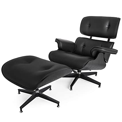 Amazoncom Mophorn Lounge Chair With Ottoman Mid Century Modern