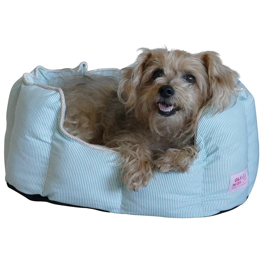 Premium Quality Small Pet Bed - Luxury Small Breed Dog Bed or Cat Bed, Pet Beds with Therapeutic Washable Cushion for Puppies and Kittens to Senior dogs and cats up to 10 pounds. (Green)