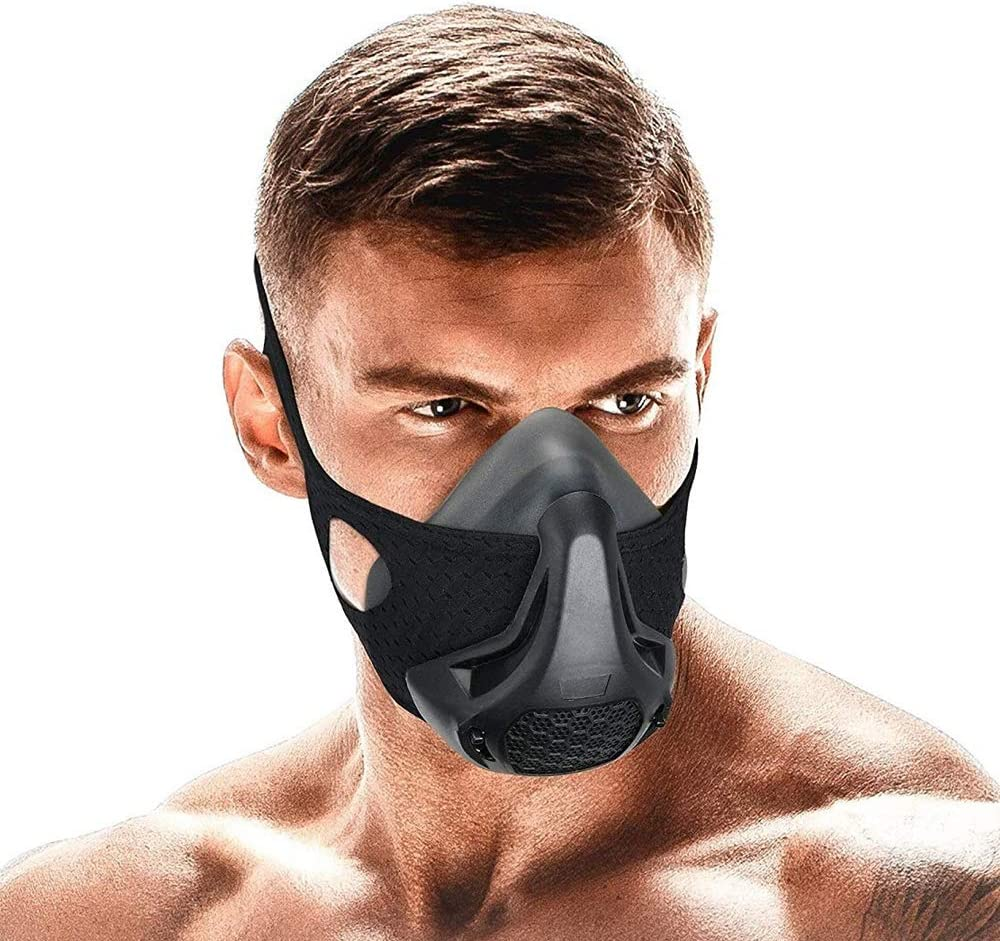 Newtion Training Mask,24 Breathing Resistance Levels Fitness Mask Workout Mask,Training in High Altitude Mask Gym Mask for Cardio, Fitness, Running, HIIT Training