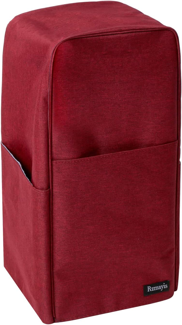 Medium, Dark-red Blender Dust Cover with Accessory Pocket Compatible with Ninja Foodi
