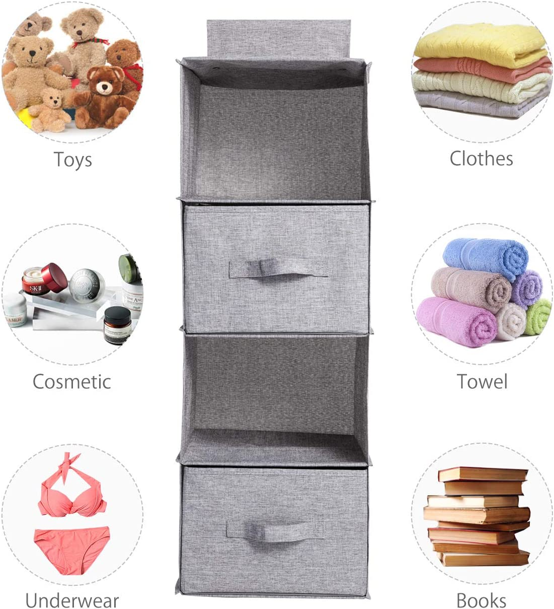 Amazon coupon code for Hanging Closet Organizer with 2 Drawers Gray Foldable