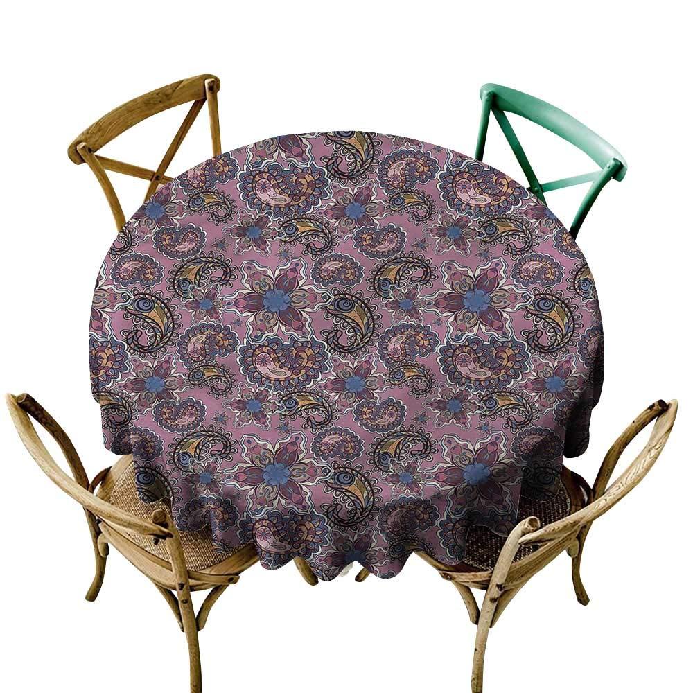 小さな円形テーブルクロス ペイズリー 星型の花 パーティーなどに最適 60 Inch 60 Inch カラー06 B07Q5JJZC3